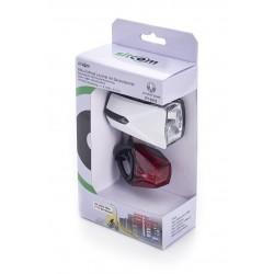 Akku-Fahrradleuchte weiss Lichtsensor-Technik / 50 LUX/230 Lumen / 60 Std. Leuchtdauer