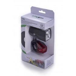 Akku-Fahrradleuchte schwarz Lichtsensor-Technik / 50 LUX/230 Lumen / 60 Std. Leuchtdauer